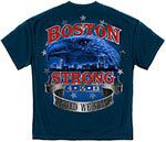 United We Stand Boston Strong T-Shirt - Blue