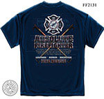 Absolute Firefighter Blue Print Navy T-Shirt