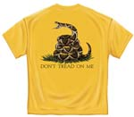 Don't Tread on Me Military T-shirt - Yellow