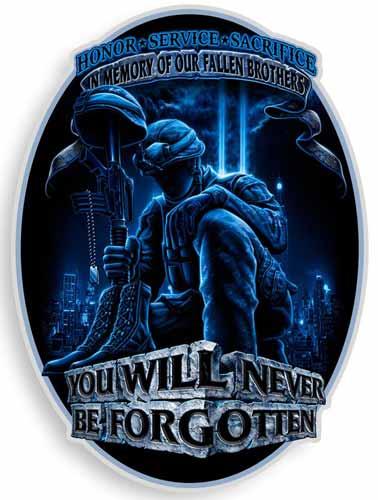 honor service sacrifice fallen brothers sticker
