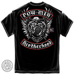POW MIA Brotherhood T-Shirt with Eagle - Black