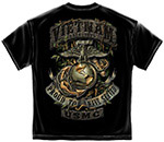 USMC Vietnam Vet Proud to Serve T-Shirt - Black