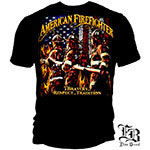 Bravery Respect Tradition American Firefighter T-Shirt - Black