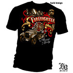 Always Ready Antique Firefighter T-Shirt - Black