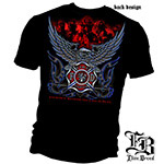 Sacrifice Beyond the Call of Duty Eagle Firefighter T-Shirt