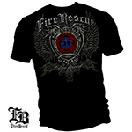 Elite Breed Fire Rescue Rise Above Fear T-Shirt - Black