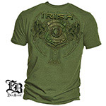 Elite Breed Irish Police Officer T-Shirt - Military Green