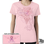 Breast Cancer 'Support the Cure' Soft Pink Ladies T-Shirt