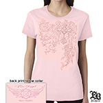 Firefighter Fire Angel Pink Ladies T-Shirt