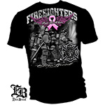 Elite Breed Fight Breast Cancer Firefighter T-Shirt - Black