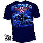 Elite Breed Fight Breast Cancer EMS T-Shirt - Navy