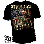 Elite Breed USMC Marines Aerial Assault T-Shirt - Black