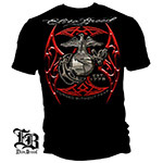 Elite Breed Red Blades Forged Without Fear USMC T-Shirt - Black