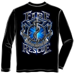 Service Before Self Long Sleeve Fire Rescue T-shirt