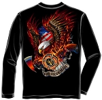 American Made Firefighter T-shirt - Long Sleeve