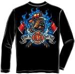 First In Last Out Firefighter T-shirt - Long Sleeve