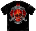 Commemorative 9-11 Never Forget Fire Department T-shirt