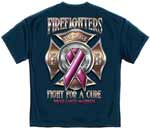 Firefighter Fight for a Cure Breast Cancer Awareness T-shirt