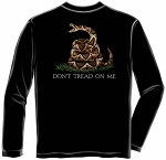 Black Don't Tread on Me Long Sleeve T-Shirt