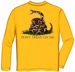 Yellow Don't Tread on Me Long Sleeve T-Shirt