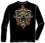 Once a Marine, Always a Marine - Bulldog Shield Long Sleeve T-shirt