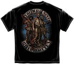 Vietnam Memorial Wall You Will Never Be Forgotten T-Shirt