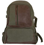 Vintage Airman's Canvas Backpack - Olive Drab