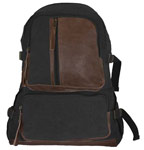 Vintage Airman's Canvas Backpack - Black
