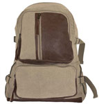 Vintage Airman's Canvas Backpack - Khaki