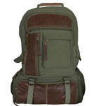 Vintage Cantabrian Excursion Canvas Backpack - Olive Drab