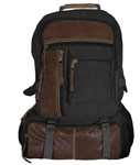 Vintage Cantabrian Excursion Canvas Backpack - Black