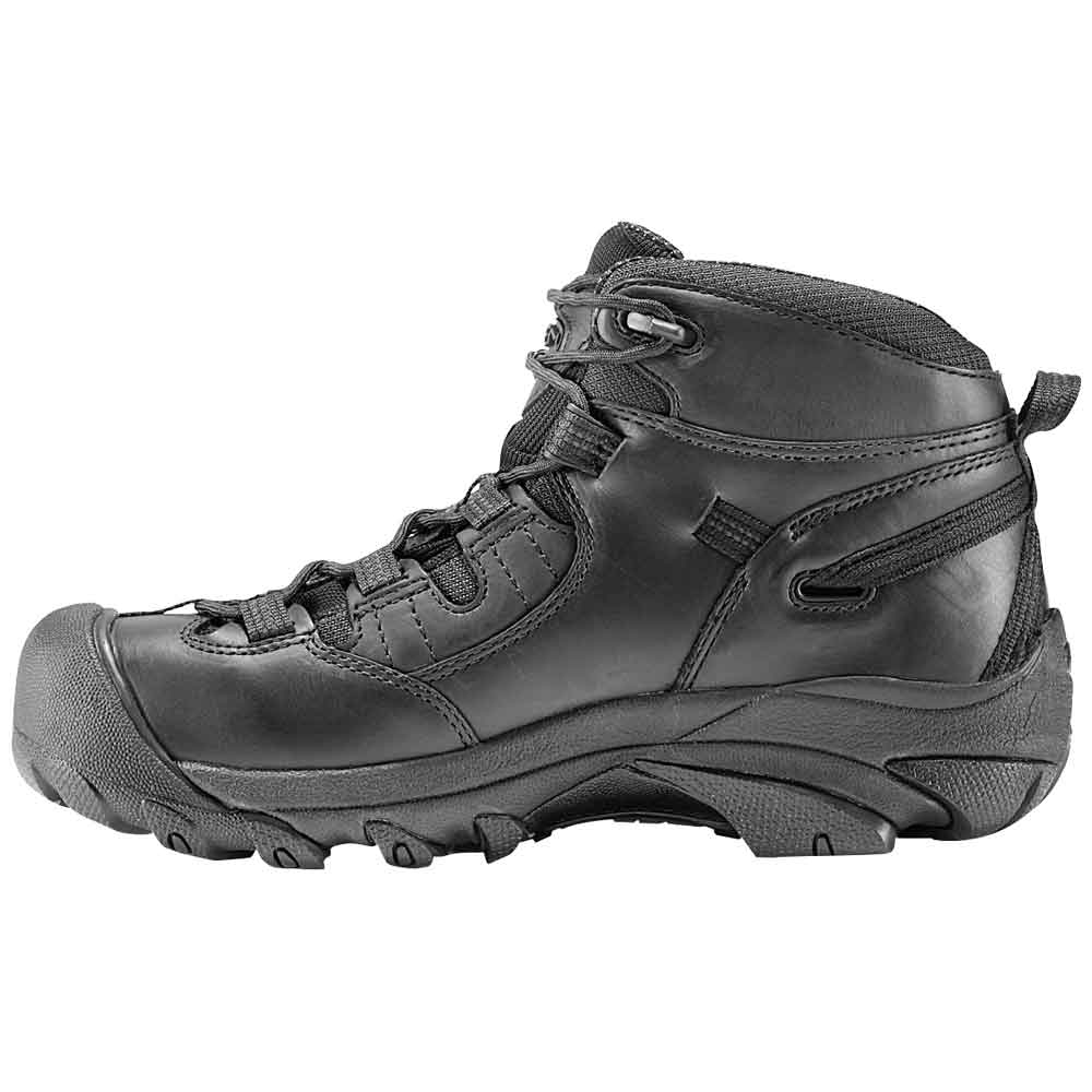 Keen Detroit Mid Soft Toe Waterproof Black Work Boot