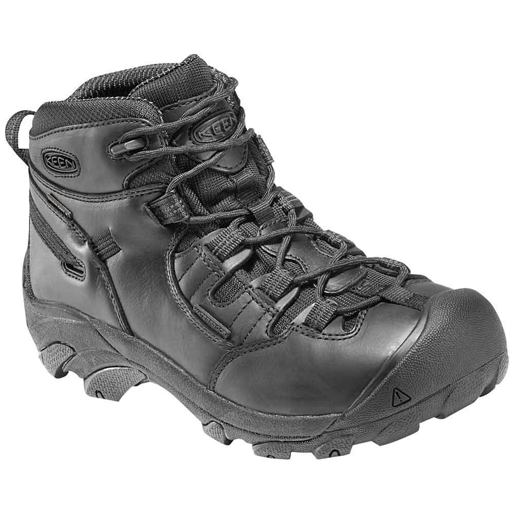 Keen Detroit Mid Soft Toe Waterproof Black Work Boot
