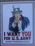 I Want You For US Army Historic Metal Sign