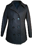 American Made Womens Navy Pea Coat