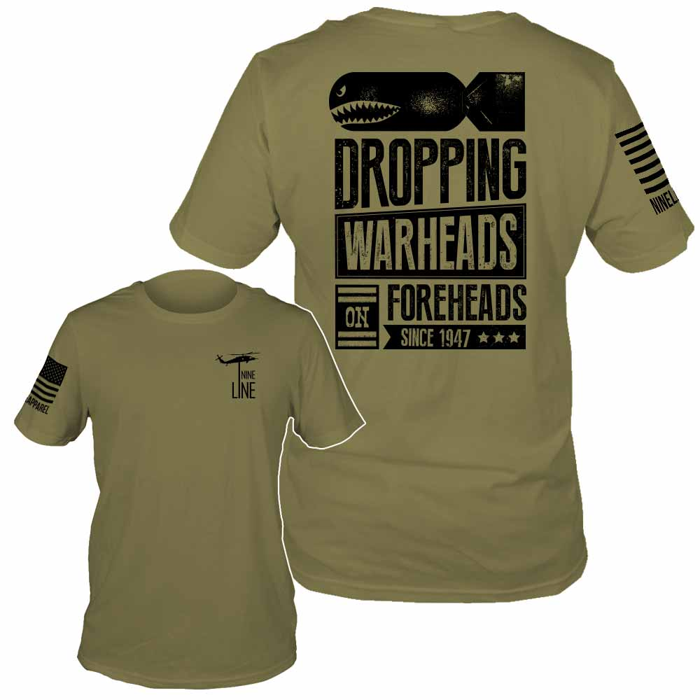 warheads on foreheads airforce t shirt by nine line. Black Bedroom Furniture Sets. Home Design Ideas