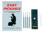 5 Piece Lock Pick Set with Instruction Book