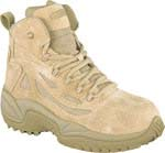 Reebok Mens Rapid Response 6 inch Desert Tan Side Zip Composite Toe Military Boots - RB8694