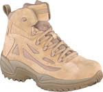 Reebok Mens Rapid Response 6 inch Desert Tan Side Zip Military Boots - RB8695