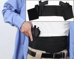 Concealed Elastic Belly Black Holster