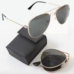 Military Style Folding Aviator Sunglasses