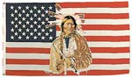 American Indian United States Flag - 3 x 5