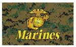Woodland Digital Camouflage United States Marine Corps Flag