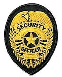 Gold Security Badge Patch