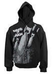 Make It Rain Full Zip Black Hoodie