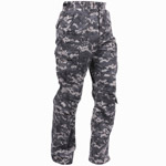 Subdued Urban Digital Vintage Paratrooper Cargo Pants