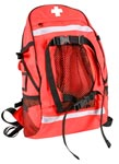Red First Aid Trauma Backpack