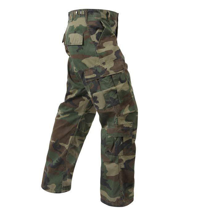 Vintage Woodland Camouflage Military Cargo Pants