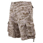 Vintage Desert Digital Camo Military Cargo Shorts