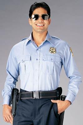 Light Blue Long Sleeve Genuine Police Issue Uniform Shirt